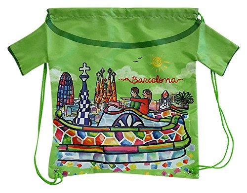 Nadal, Fiesta Souvenirs 393124, Mochila Gaudi, Acrílico y Algodón, Verde, 40x34x0.5 cm