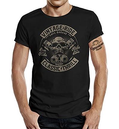 Gasoline Bandit Original Diseno Biker Shirt: Vintage Ride Classic Thrill-L