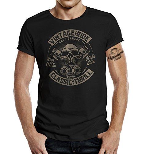 Gasoline Bandit Original Diseno Biker Shirt: Vintage Ride Classic Thrill-XL