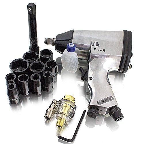 BITUXX® Druckluft Schlagschrauber Radschrauber Set 17-teilig mit Transportkoffer Pneumatik Luftdruck Schlag Schrauber Reifenwechsel