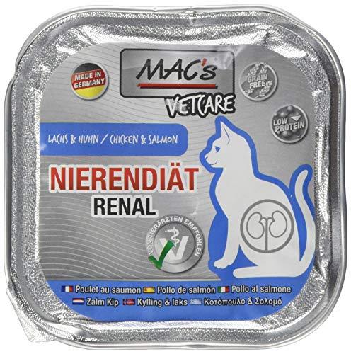Mac's kattenvoer vrij van vetcare zalm kip nierdieet 100 g