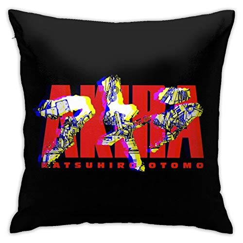 AKI-Ra - Funda de almohada cuadrada suave y suave, lavable, cuadrada, decorativa, grande, para sofá, silla, cama y sofá, 45,7 x 45,7 cm