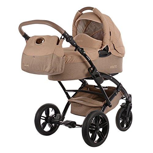 knorr-baby 3200-01 Kombikinderwagen, Voletto Happy Colour, grau/beige