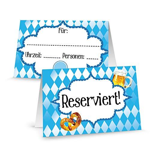 Logbuch-Verlag 100 carteles reservados para gastronomía, diseño de rombos, color azul y blanco