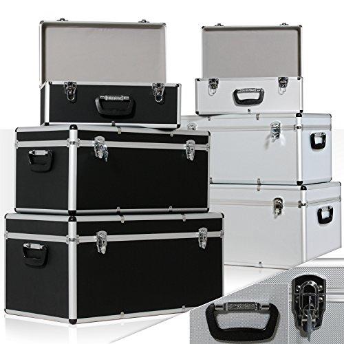 Masko® 3er Set Alu Boxen ✓ Alubox ✓ Alukiste ✓ Werkzeugkoffer ✓ Werkzeugkasten ✓ Transportbox | Werkzeugkiste | Lagerbox NEU Werkzeug Box | Farbe: Schwarz