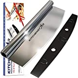 """14"""" Pizza Cutter by Kitchenstar   Sharp Stainless Steel Slicer Knife - Rocker Style w Blade Cover..."""