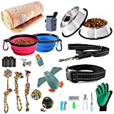 AONESY 24pcs Puppy Starter Kit,Small Dog Supplies Assortments Gift Set for Dog,Includes:Dog Toys/Dog
