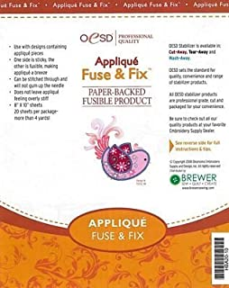 OESD Applique Fuse & Fix Paper-Backed Fusible Product 8