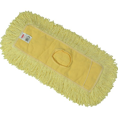 Rubbermaid Commercial Trapper Dust Mop, 12-Inch Length x 5-Inch Width, Yellow (FGJ15100YL00)