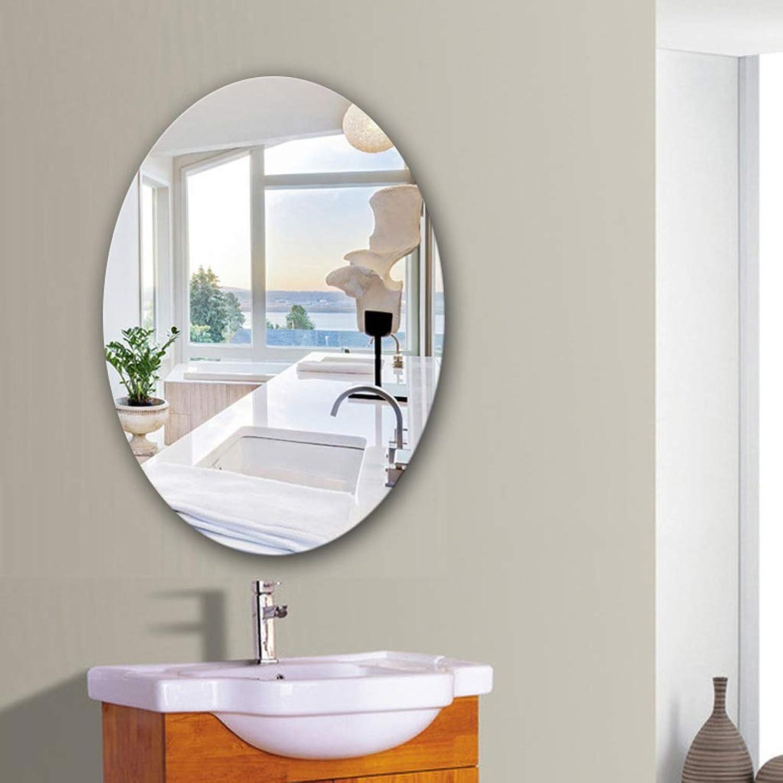 JUCAIYUAN Mirror Bathroom Mirror Wall Mounted Vanity Mirror, Washbasin Mirror (Shape   Oval, Size   35X45cm)