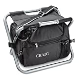Personalized Sit 'n Sip Cooler Seat - Personalized Folding Cooler Chair - Insulated Cooler (Black, One Chair) for Dad, Grandpa, Husband, Boyfriend, Stepdad, Uncle, Brother