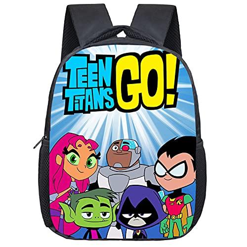 Mochila escolar ajustable Teen Titans Go para niños, mochila escolar, mochila escolar, mochila de ocio para niños y adolescentes, 5, 16',