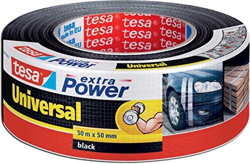 tesa 56389 Reparaturband extra Power Universal, UV-beständig, wasserfest, 50m x 50mm, schwarz (2er Pack)