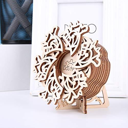 URNOFHW Wooden 3D Puzzle Modell Musikbox Mechanische Antrieb Model Kit Holz Constructor Figur Adult Puzzle Spielzeug-Kind-Geschenk