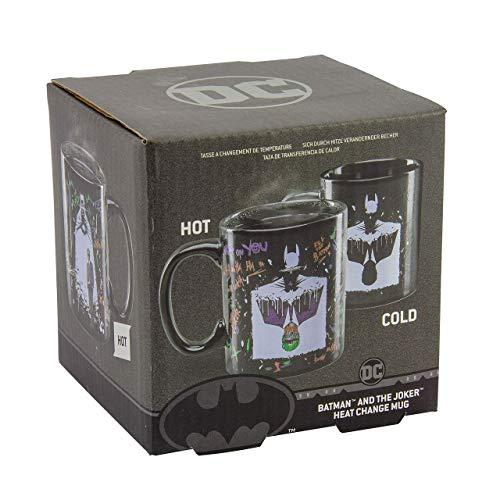 DC Comics Batman & Joker Tasse Thermoeffekt, Heatchange Mug schwarz/weiß, 100 % Keramik, in Geschenkverpackung.