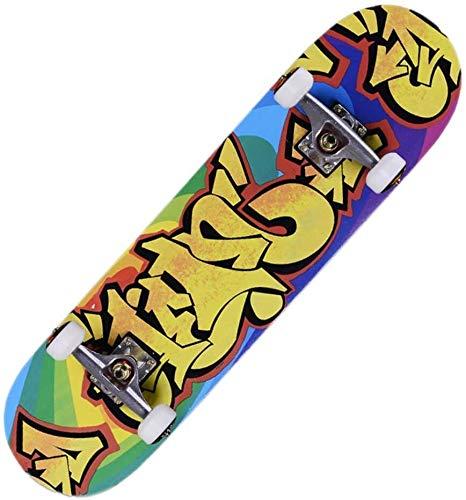 XKstyle Standard Skateboard, 8-layer Maple Deck, Professional 31' X 8' Recessed Longboard
