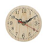 UKKD Reloj de Pared Vintage Rústico De Madera Reloj De Madera Antiguo Shabby Retro Casa De Cocina Decoración De La Decoración De La Pared De Madera