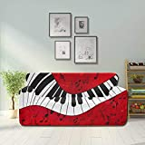 JOCHUAN Abstract Piano Scores On Stretch Slipcover Elegant Couch Cover Fitted Furniture Protector 2&3 Seat Sofas