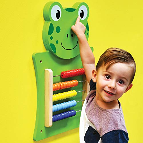 LEARNING ADVANTAGE 50679 Frog Activity Wall Panel - 18M+ - in Home Learning Activity Center - Wall-Mounted Toy for Kids - Decor for Bedrooms and Play Areas