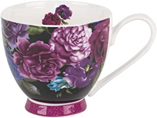 Portobello Sandringham Aria Bone China Mugs Tea Cups, Set of 2