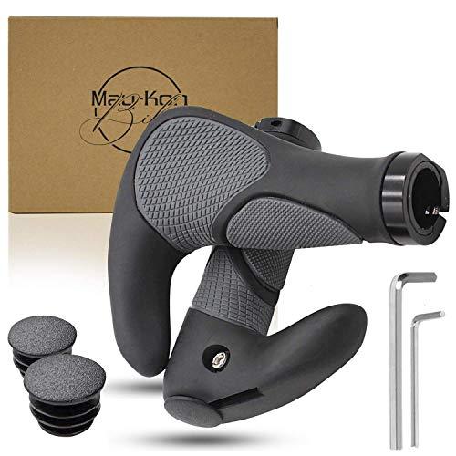 May-Kon Bike® Premium Fahrradgriffe [2X] Hochwertige Fahrrad Lenkergriffe Ergonomisch für Mountainbike, E-Bike u.v.m. aus rutschfestem Gummi