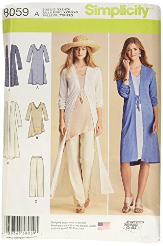 Simplicity 8059 Women's Cardigan, Top, and Pants Sewing Pattern, Sizes S-L