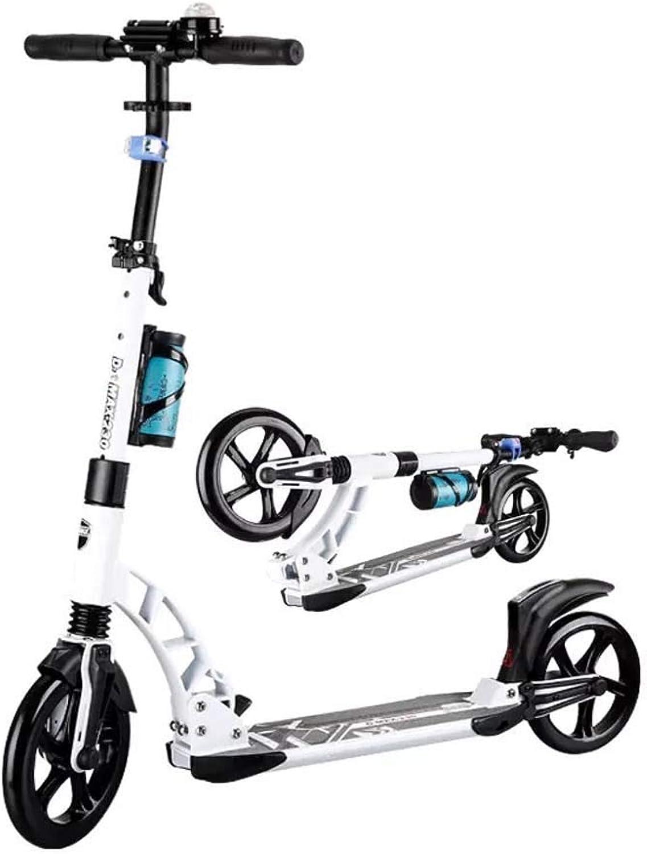 elige tu favorito Patinetes Scooter de de de Aluminio Scooter Plegable Simple Que Lleva Conveniente Coche Equilibrio,blanco  ganancia cero