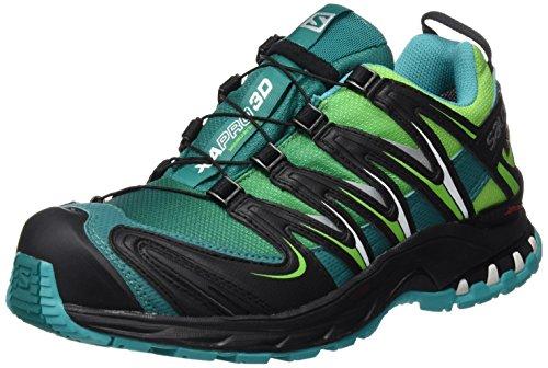 SALOMON Damen L39071300 Traillaufschuhe, Grün Veridian Tonic Green/Teal Blu, 36 2/3 EU