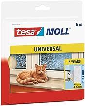 tesa moll Universele schuimrubberen afdichting voor het isoleren van kieren in het huishouden, zelfklevend, wit, 6 m x 15 ...