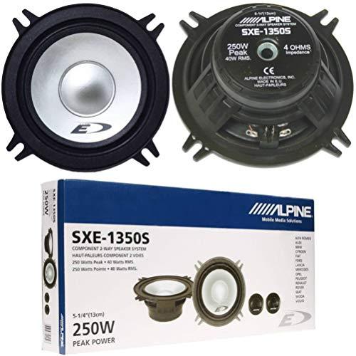 """1 Kit Sistema de 2 vías Compatible con Alpine SXE-1350S 13.00 cm 130 mm 5"""" Altavoces 40 vatios rms y 250 vatios MAX impedancia 4 ohmios sensibilidad 90 db, en Pares"""