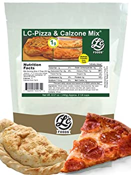 Low Carb Foods Mix Pizza & Calzone | Best Naturals Multi Grain | All Natural Organic Ingredients | High Fiber & Protein | No Sugar Diabetic friendly | Keto Diets | Makes Three Pizzas|8.57 Oz Mix