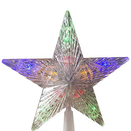 gartenmoebel-einkauf Christbaumspitze Kunststoff 22x24cm mit 10 LED mehrfarbig