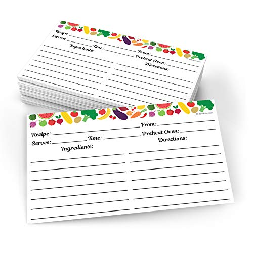 321Done Small Recipe Cards (Set of 50) 3