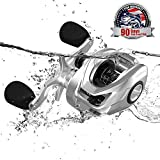 Cadence CB6 Baitcasting Reels, 20 LB Powerful Carbon Fiber Drag Baitcaster, 6.9oz Ultralight Casting Reels, Durable Aluminum Main Gear, 7.3:1 Gear Ratio, Super Smooth Cost-Effective Baitcaster Reels
