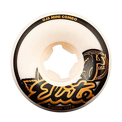 OJ III Skateboard Wheels 54mm Elite Mini Combo 101A White