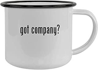 got company? - 12oz Camping Mug Stainless Steel, Black