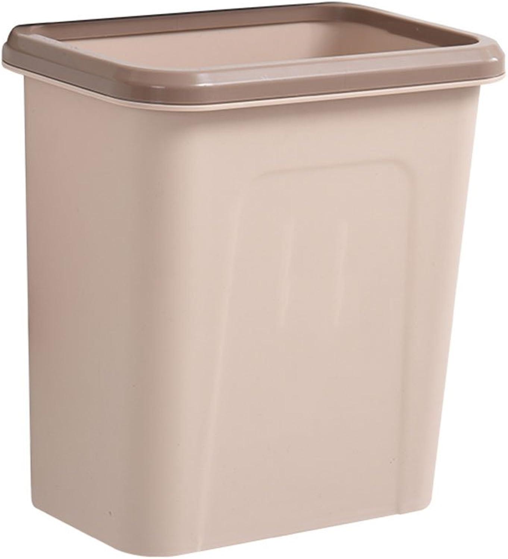 XJRHB Haushaltswand-eingehangener Mülleimer, der Plastikkabinette große Speicherfaßküchenwohnzimmer verdunkelt, verdunkelt, verdunkelt, kann hängender Abfalleimer Sein (Farbe   Light braun) B07JHFZWKQ | Wunderbar  d09637