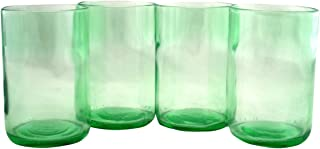 Tumblers Drinking Glasses Made From Recycled Wine Bottles 12 Oz - set of 4 (Mint, 12 Oz)