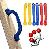 Swing Sicherheits-Griffe, 1 Paar Sicherheits-Spielplatz-Griffe, rutschfestes Klettergerüst, Handgriffe, Spielhaus-Griffe, Outdoor-Spielstruktur-Zubehör, nicht null, rot, Free Size