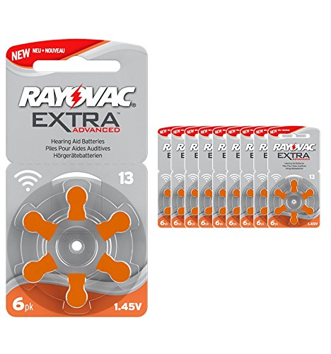 Rayovac 13 Extra 60x Advanced Hearing Aid Batteries PR48 / 13AE / DA13 / P13 / PR13H by Rayovac