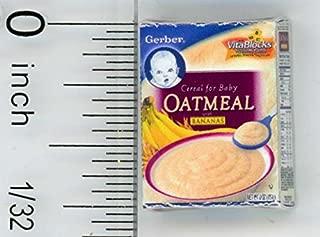 Cindi's Minis Dollhouse Miniature Box of Baby Banana Oatmeal