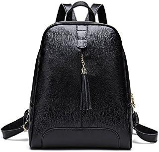 xi dong Sommer, Frühling, Neue Lederfransenschulterhandtasche Art und Weisehand erste Schicht aus Leder Rucksack,Marineblau,Free Size