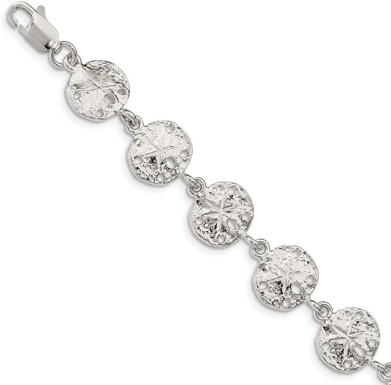 Beautiful Sterling silver 925 sterling Sterling Silver Sand Dollars Bracelet