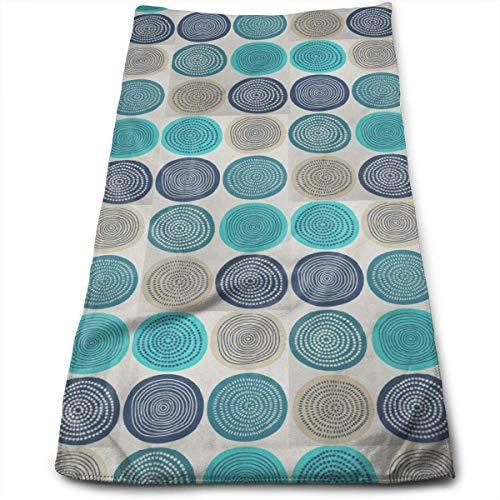WTZYXS Bad Handdoeken Teal Hay Balls Gezicht Handdoeken Zeer Absorberende Washandjes Multifunctionele Handdoeken voor Hand Gezicht Gym en Spa 12