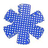 ZKSM Lot de 6 Protections de casseroles antidérapantes pour éviter Les Rayures, séparateurs en Feutre pour ustensiles de Cuisine, Wok empilables et protéger Les Surfaces (Bleu, 36,8 cm)