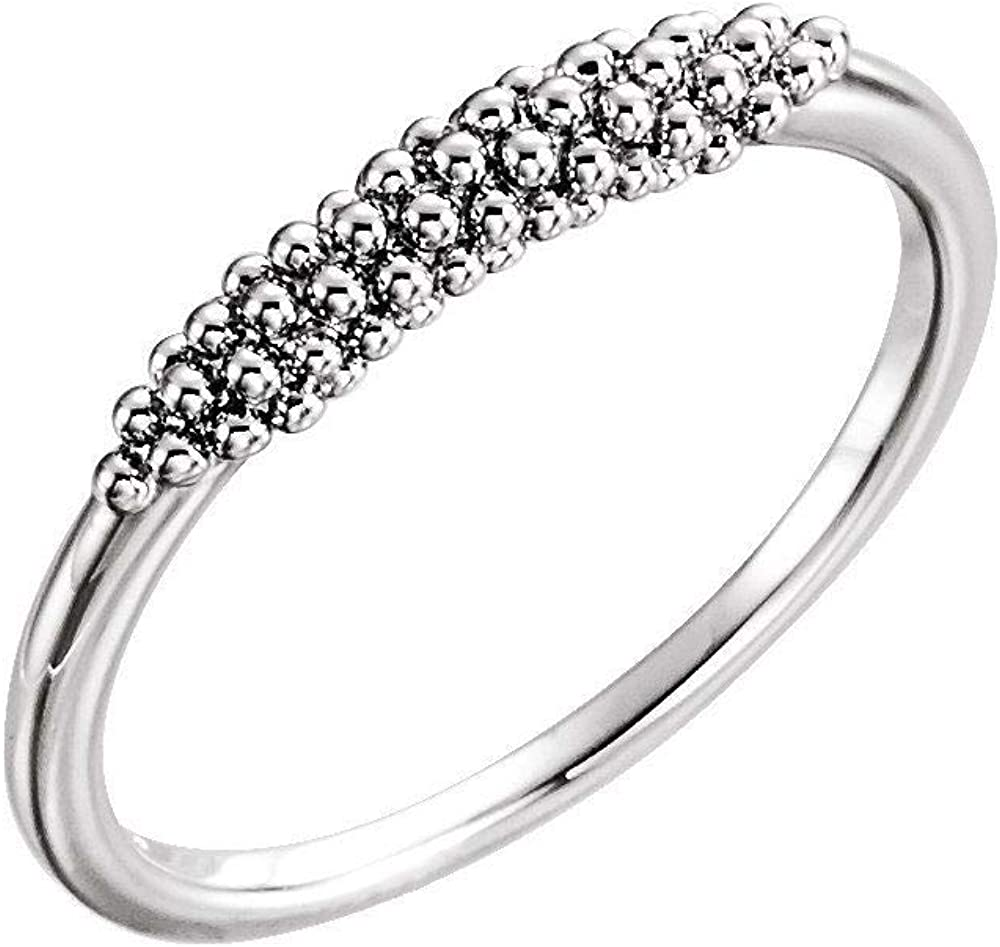 Beaded Ring Band Comfort Fit (Width = 80mm)