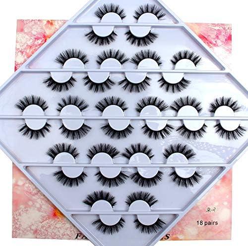lowest HBZGTLAD 18 pairs 3D Mink Lashes Natural False Eyelashes Dramatic new arrival Volume Fake Lashes Makeup Eyelash Extension Silk outlet online sale Eyelashes (SK-07) outlet online sale