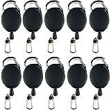 AMACOAM 10 Stück Schlüssel Jojo Ausweis Jojo mit Gürtelclip Schlüsselband Ausziehbar...