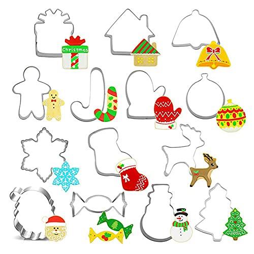 Belind 14PCS Emporte Piece Noel moulle Biscuits Noel 3D Moul