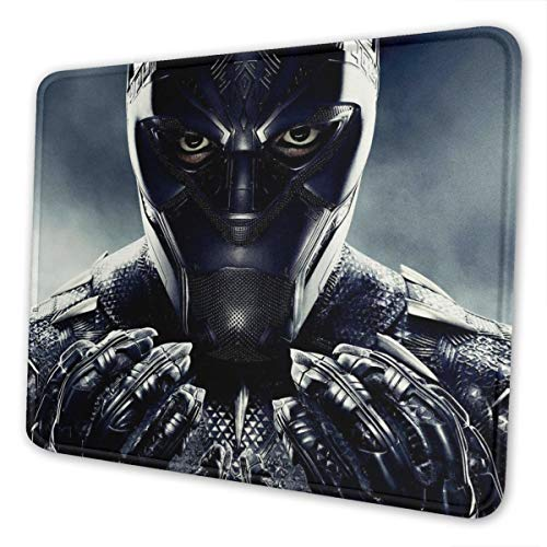 Black Panther Gaming Mouse Pad with Stitched Edge Non-Slip Rubber Base Large Mouse Pads for Laptops Computers and PC 12 x 10 x 0.12 Inches